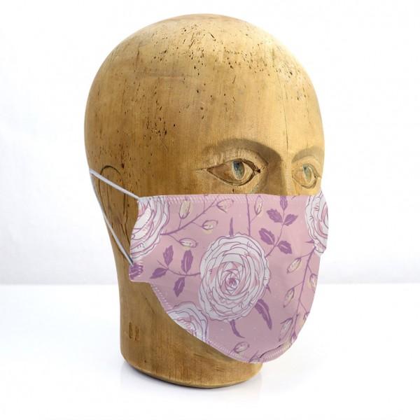 """Mund-Nasen-Maske """"Blumen rosa"""""""