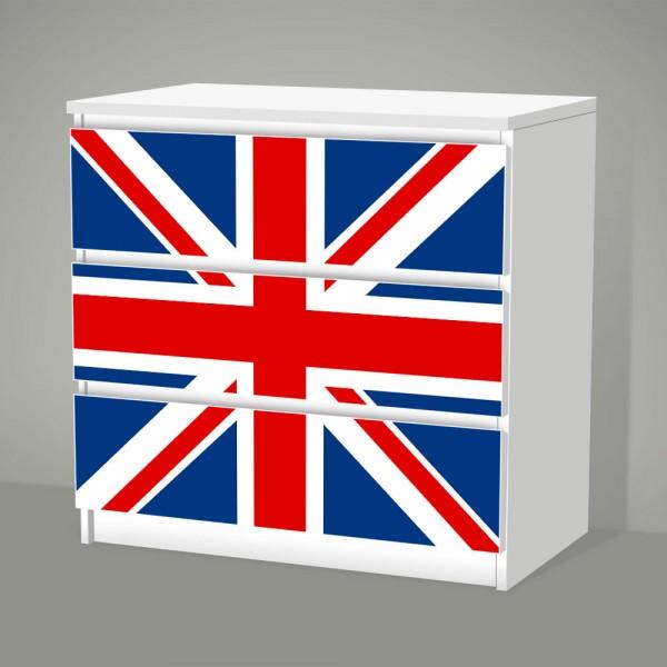 Union Jack (Möbelfolie für IKEA Malm - 3 Schubladen)