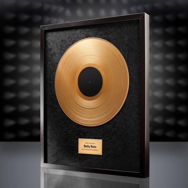 Goldene Schallplatte (Schwarz)