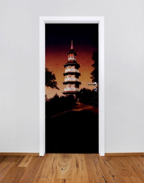 Asien gehüllt in Dunkelheit (Türfolie | Türposter)