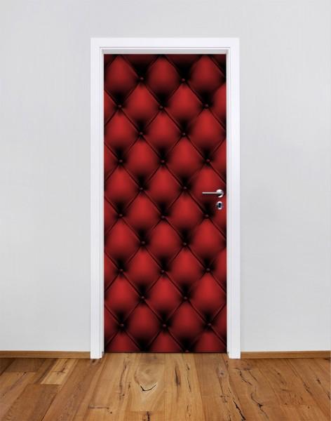 Rotes Ledermuster (Türfolie | Türposter)