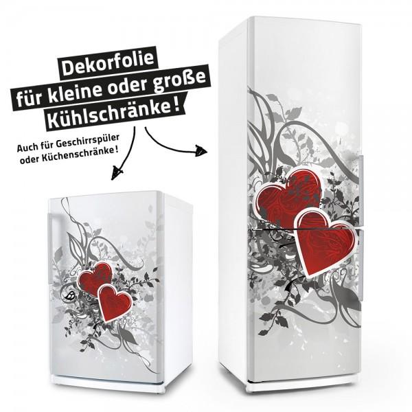 Retro Love - Herzen (Küchen-Dekorfolie)