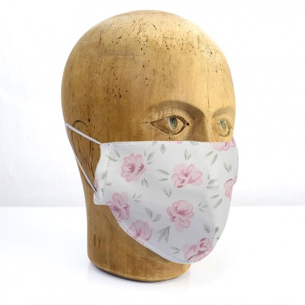 """Mund-Nasen-Maske """"Blumen Shabby"""""""