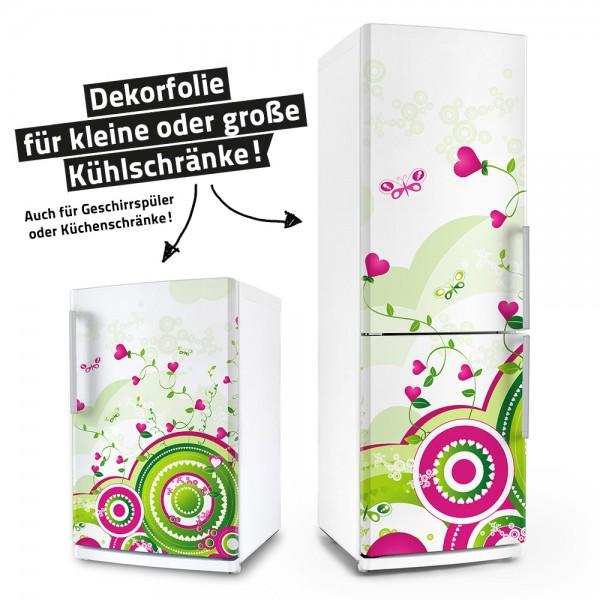Floral Retro Love (Küchen-Dekorfolie)
