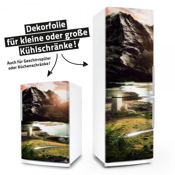 Forbidden Lake Fortress (Küchen-Dekorfolie)