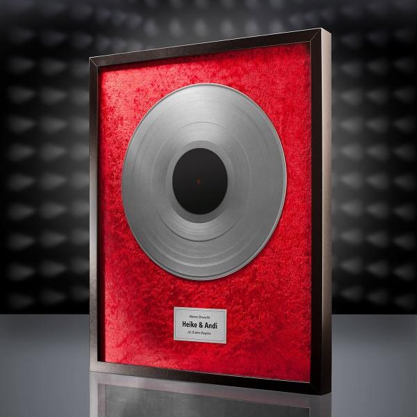 Silberne Schallplatte (Rot)
