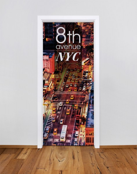 New York City - 8th Avenue (Türfolie | Türposter)