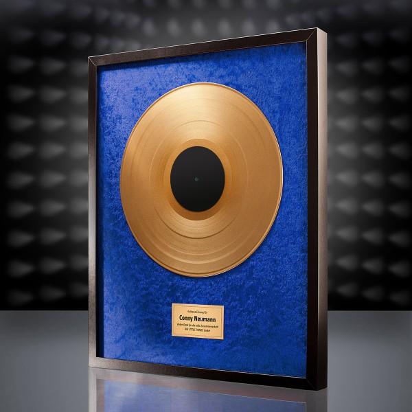 Goldene Schallplatte (Blau)