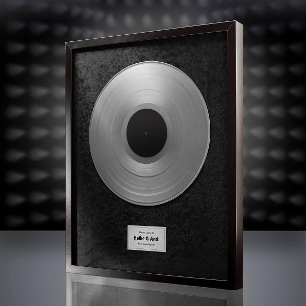 Silberne Schallplatte (Schwarz)