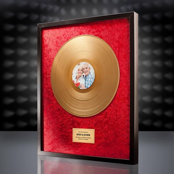 Goldene Schallplatte (Rot) mit eigenem Foto