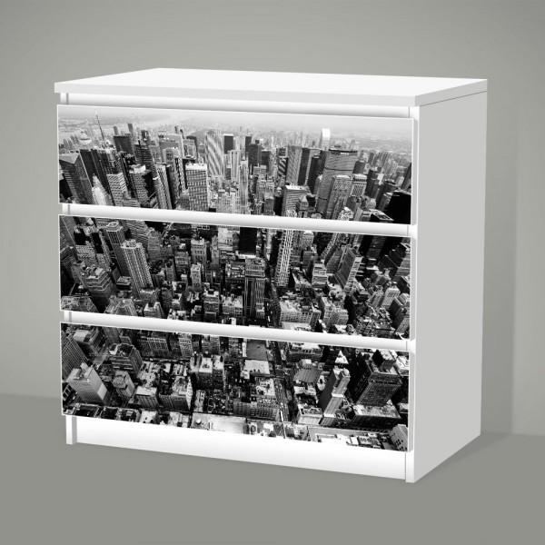 New York (Möbelfolie für IKEA Malm - 3 Schubladen)