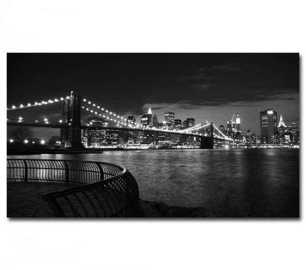 Brooklyn Bridge in New York (schwarz/weiß)