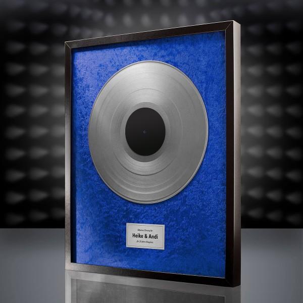 Silberne Schallplatte (Blau)